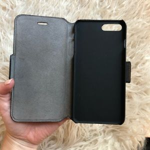 Accessories - Black Leather IPhone 6+ Wallet Case